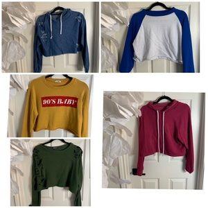 5/$49 crop Fashion nova sweatshirts bundle